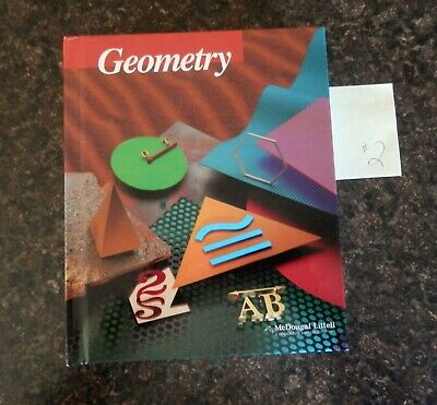 Geometry Text Book McDougal Littell Jurgensen  Houghton Mifflin Company