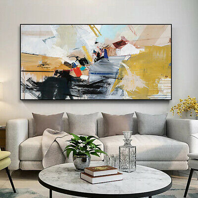 VV556 Modern Large Hand painted abstract oil painting on canvas Frameless