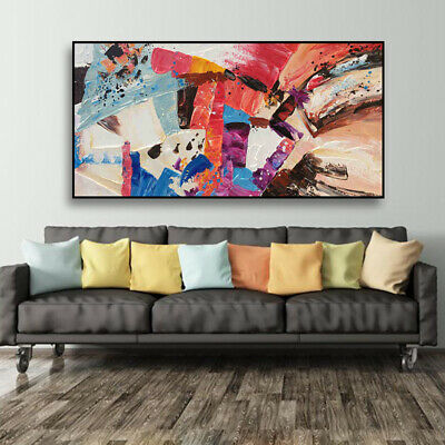 VV557 Modern Large Hand painted abstract oil painting on canvas Frameless