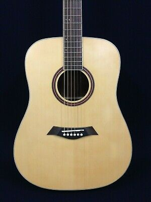 Dame Full Size Dreadnought Acoustic Guitar,Natural Satin+Free Bag,Digital Tuner