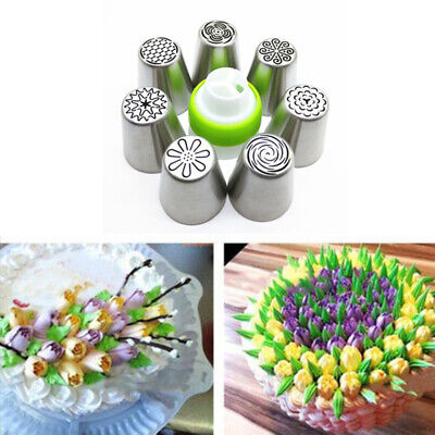 7Pcs Russian Tulip Flower Cake Icing Piping Nozzles Decorating Tips Baking UEX
