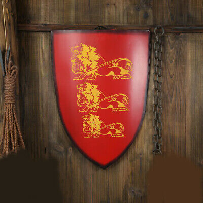 D34 Europe Retro Medieval Shield Antique Knight Armour Wall Home Decor Full Size