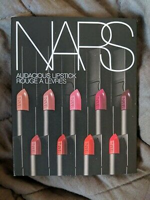 NARS Audacious Lipstick Rouge A Levres Sample Card