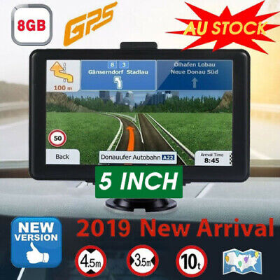 "5"" Truck Car Navigation GPS Navigator Sat Nav 8GB Lifetime Map Speedcam FM MP3"