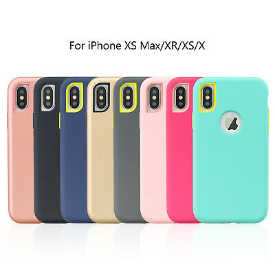 Fr iPhone 8 7 Plus 6 5s XS Max XR Case Hybrid TPU Bumper Shockproof Rubber Cover