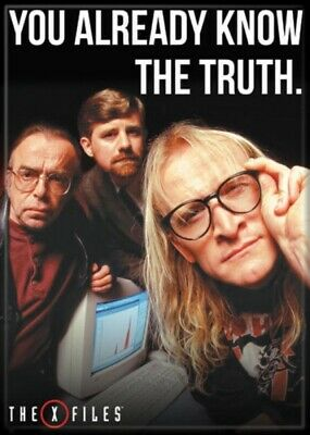 The X-Files TV You Already Know The Truth Lone Gunmen Photo Refrigerator Magnet