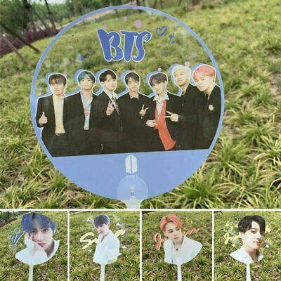 Kpop BTS TXT BLACKPINK TWICE Hand Held Fan PVC Fan Summer Portable Mini Fan UK