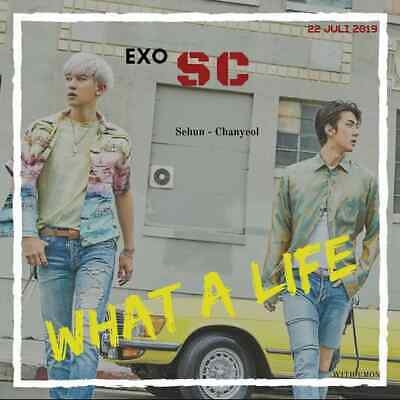 EXO-SC WHAT A LIFE Album 3Ver SET 3CD+POSTER+3Book+6Card+3F.Poster+3Tag+etc+GIFT