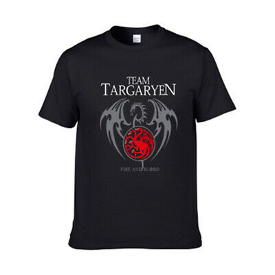 Game of Thrones Printed Black Men's Short Sleeve Pure Cotton T-Shirt