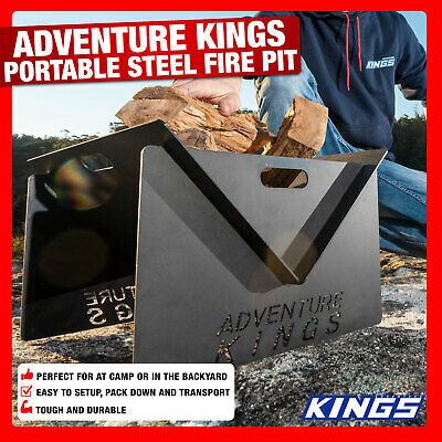 EB Kings Portable Steel Fire Pit   Easy Setup   Use Anywhere 01