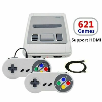 Classic Super Nintendo Mini Console Edition Built-in Preloaded 621 Games TV HDMI