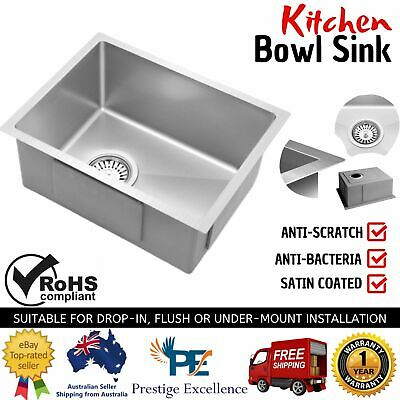 34X44cm Kitchen Bowl Sink Nano Stainless Steel Under Flush Mount Drop In Laundry
