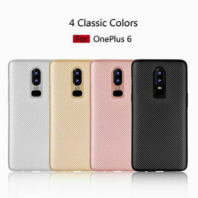 Luxury Shockproof Silicone Carbon Fiber Case Cover For Oneplus 6 5 5T 1+3T / 1+3