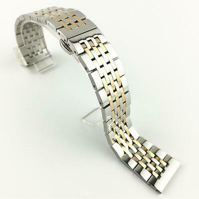 Curved Solid Stainless Steel Metal Bracelet Clasp Replacement Watch Band Strap
