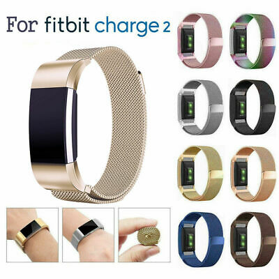 For Fitbit Charge 2 Strap Replacement Milanese Band Stainless Steel Magnet SL
