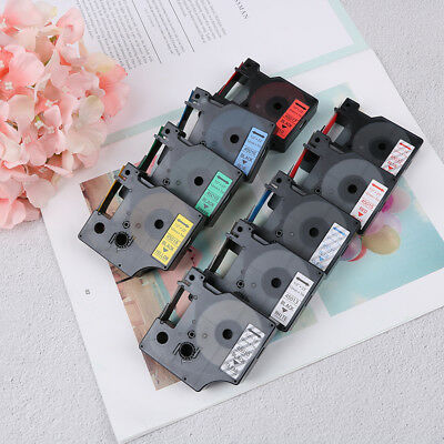 Compatible for DYMO 12mm D1 Black on Color Label Tape 1/2'' LabelManager TC