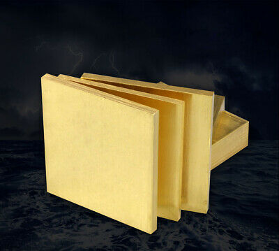 100mmx100mm H62 brass plate sheet block board panel 0.1mm-1.0mm thickness