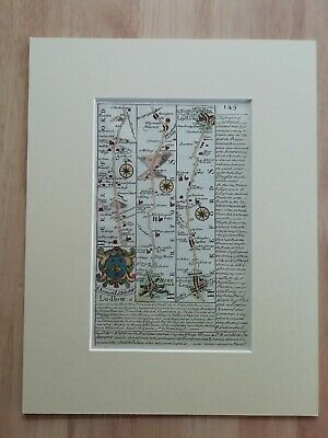 Antique Strip Map Hereford To Leominster From Atlas Brittania Depicta