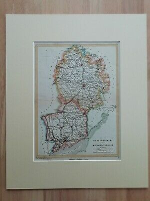 Map Hereford. & Monmouth. from Reynold's Geological Atlas of Great Britain 1903