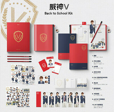 2019 WAYV BACK TO SCHOOL KIT /ID Card+Photo+Charm+Pencil+Sticker+Pouch+Note+etc