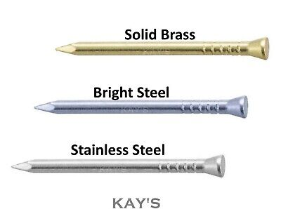 PANEL PINS 15mm,20mm,25mm,30mm,40mm CHOOSE SOLID BRASS, STEEL OR STAINLESS STEEL