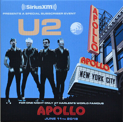 U2 Live at APOLLO 2018 A Special Subscriber Event limited edition CD/DVD set NEW