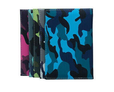 Luxury Camouflage Effect PU Leather Passport Cover Travel ID Holder Wallet