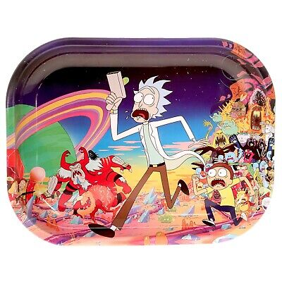 Small Metal Rolling Tray 'Rick & Morty - Monster Dash' - Free Same Day Shipping