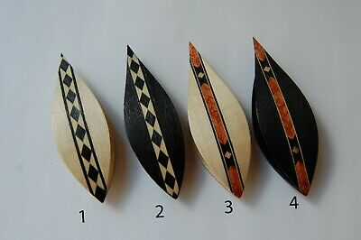 Wooden Hand Made Tatting Shuttle With Pick & Marquetry IN ASSORTIMENT
