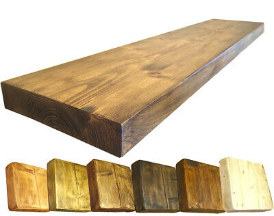 RECLAIMED Scaffold book shelf rustic floating shelves industrial Brackets incl.
