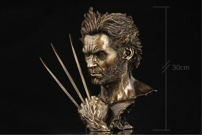 X-MAN Wolverine Logan Superhero Hugh Jackman Bust Model Resin Statue Decor 12/'/'