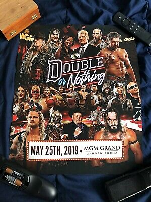 AEW Double Or Nothing Event Poster WWE Wrestling Jericho Omega Elite Young Bucks