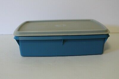 Tupperware Stow N Go Divided Container Blue Tuppercraft 767-14