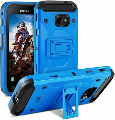 Heavy Duty Shockproof Cover Case W/ Kickstand for Samsung Galaxy Xcover 4 Blue