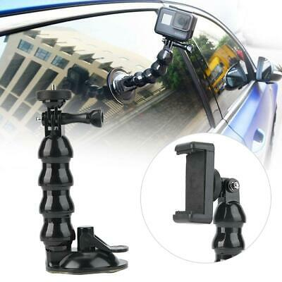 Suction Cup Car Mount Holder For OSMO Gopro Xiaomi Yi Action Camera w/Phone Clip