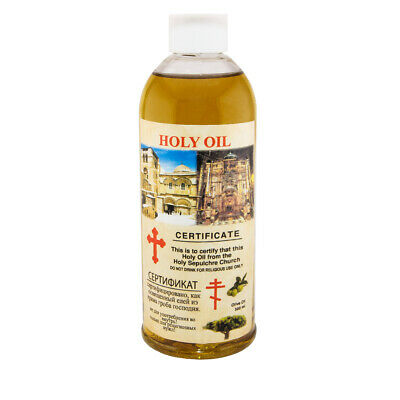 Blessed Holy Virgin Olive Oil from Holy Sepulchre Church Jerusalem 300ml