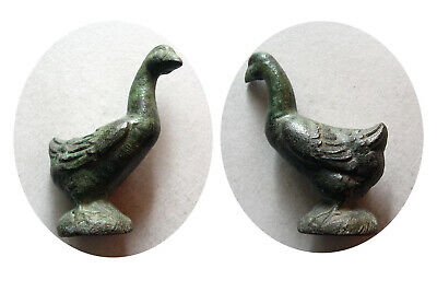 PCW-AN406-ROMAN EMPIRE. 2nd.-3rd.Century AD. Small Bronze Statue of a Goose.Rare