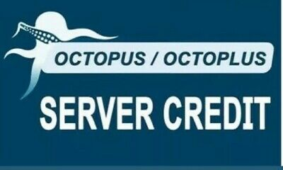 OCTOPUS, OCTOPLUS SERVER CREDIT  (100 PACK)  1 to 10 min Fast