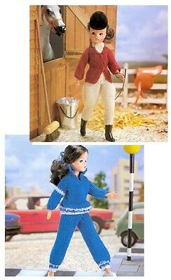 Sindy/Barbie Dolls' 4 Ply Gymkhana and DK Jogging Outfit Knitting Pattern 10035