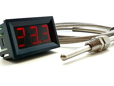 "EGT Exhaust Temperature Small Gauge Kit 1/8"" NPT - 3 Meter Sensor Cable."
