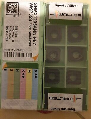 Walter SNMX 1205ANN F57  WKP 35S    Carbide Inserts The listing is for 1 box