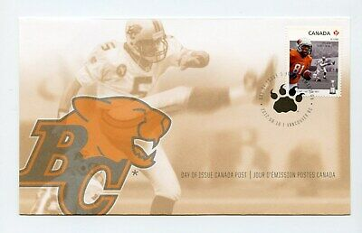 Canada FDC #2569 Grey Cup BC Lions Football  2012 73-6