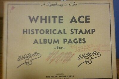OLD ACE STAMP Album with 2,500+ stamps  Sample pages are
