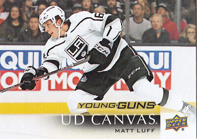 2018-19 Upper Deck Matt Luff Rc Young Guns Ud Canvas #229 18-19