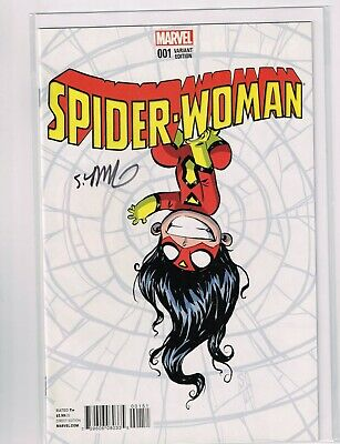 Spiderwoman 1 variant Skottie Young. Signed by Young