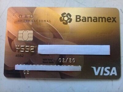 Mexico Credit Cards Expired - Banamex Gold - For Collection