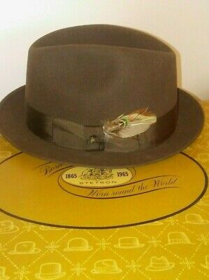 63ee80560 RARE! VINTAGE STETSON Royal De Luxe Fedora w/ Rope Band & Original ...