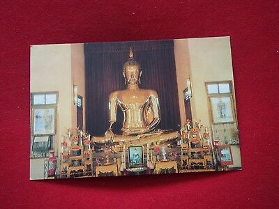 Vintage Postcard - The Golden Buddha of Sukothai
