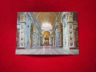 Vintage Postcard - Interior of the St. Peter's Church
