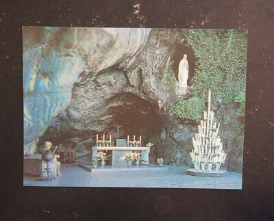 Holographic Postcard - Lourdes En Relief, The Miraculous Grotto